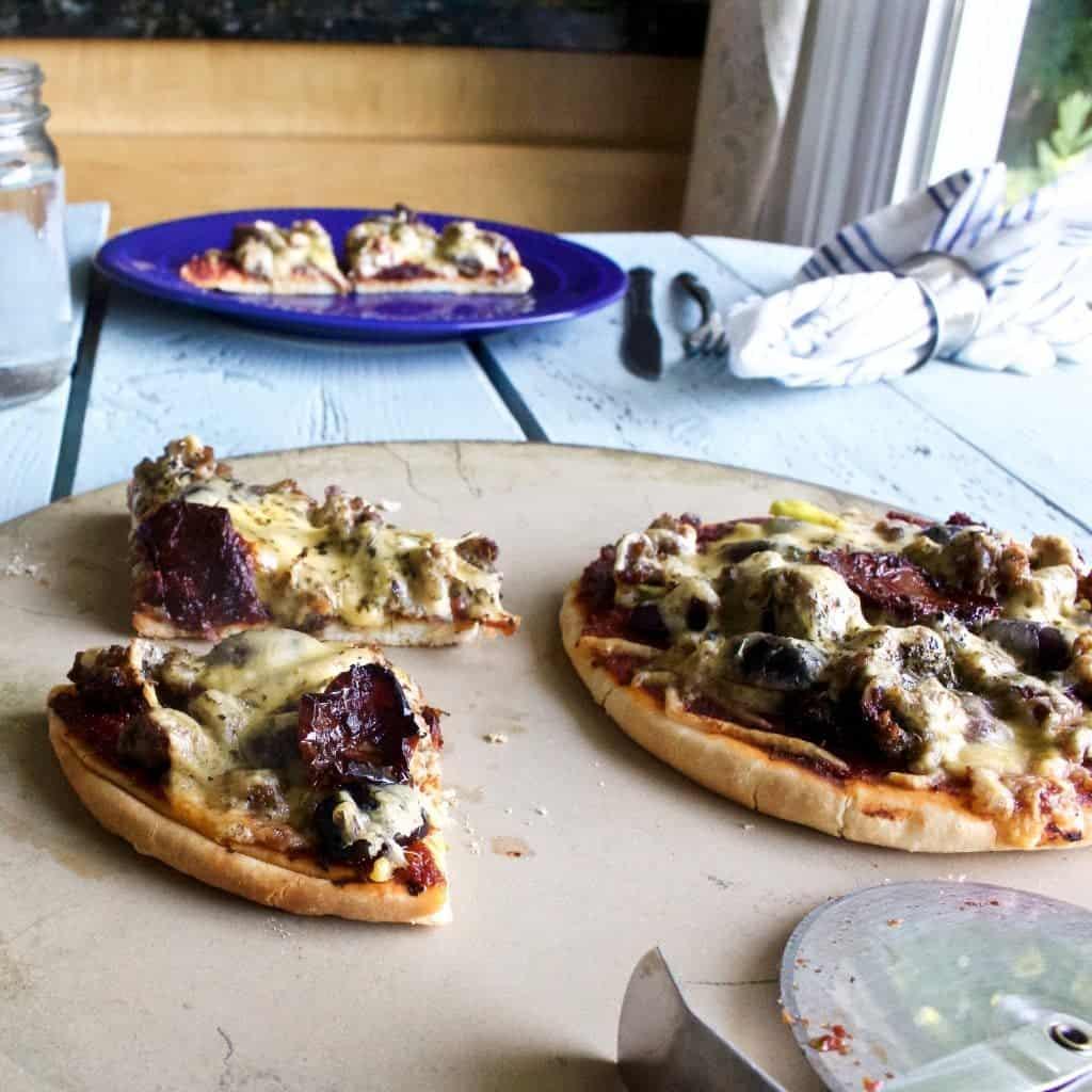 Mediterranean Naan Pizza