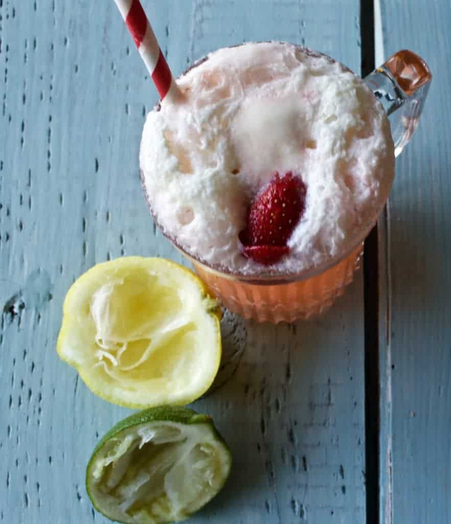 Lemon Lime Strawberry Float