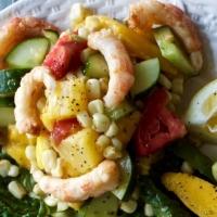 Barbecue Shrimp Mango Salad