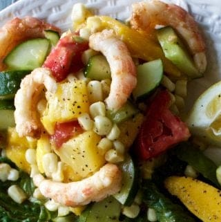 Barbecue Shrimp Mango Salad