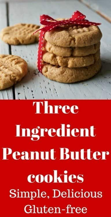 Three Ingredient Peanut Butter Cookies are extremely easy, gluten free and so good! #HomemadeFoodJunkie #peanutbuttercookies #cookierecipe #glutenfree#kidsinthekitchen #kidsbaking #easybake #baking