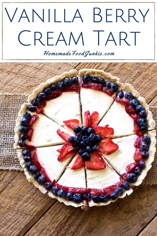 vanilla berry cream tart-pin image