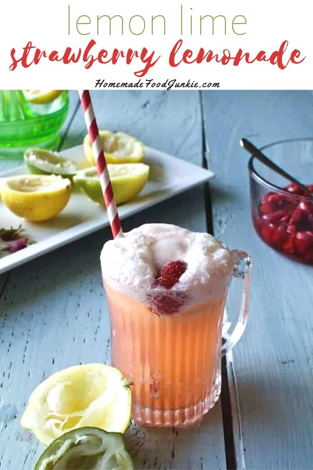 lemon lime strawberry lemonade-pin image