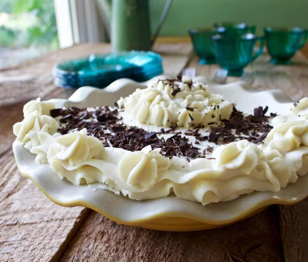 Chocolate Pudding Pie Entirely From Scratch. Amazing Flavor And So Easy! Make Ahead, No Bake Dessert! Http://Homemadefoodjunkie.com