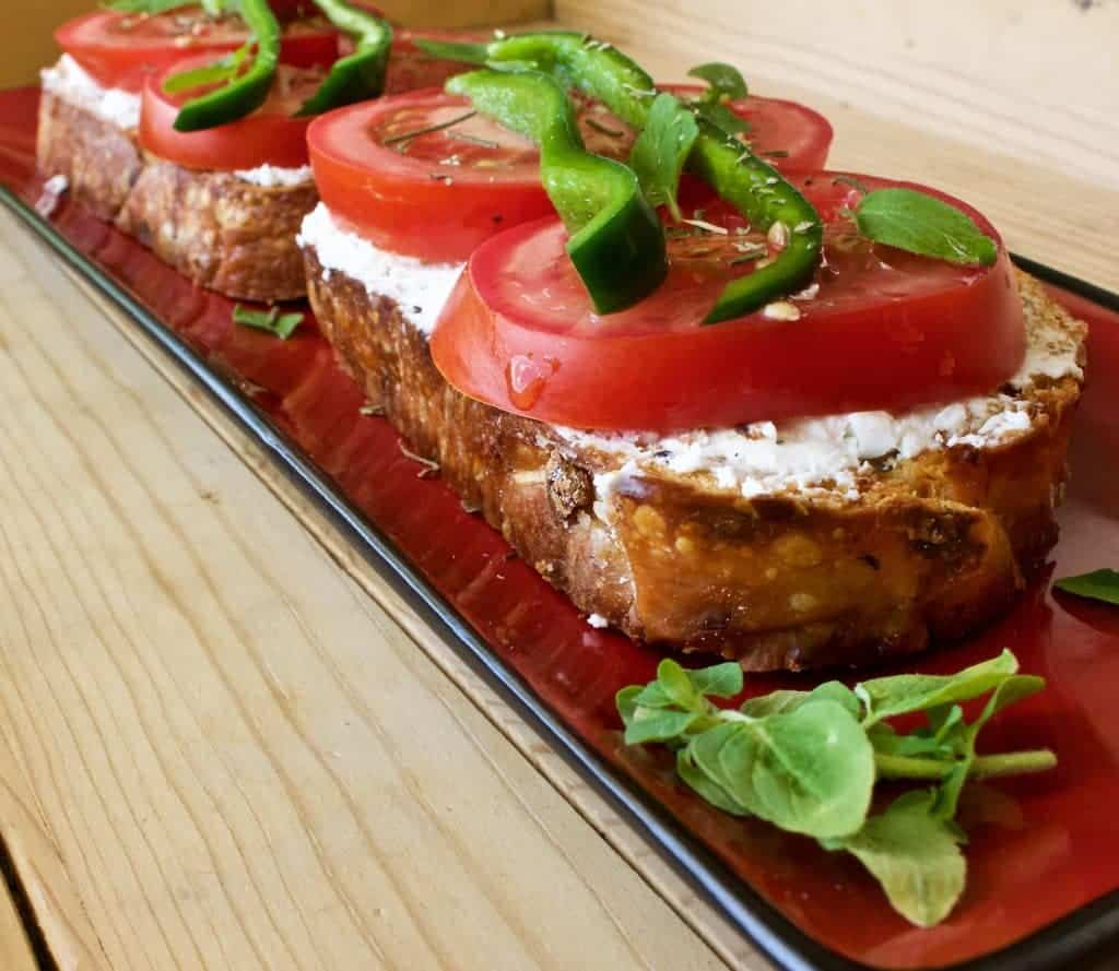 Crostini with Goat Cheese