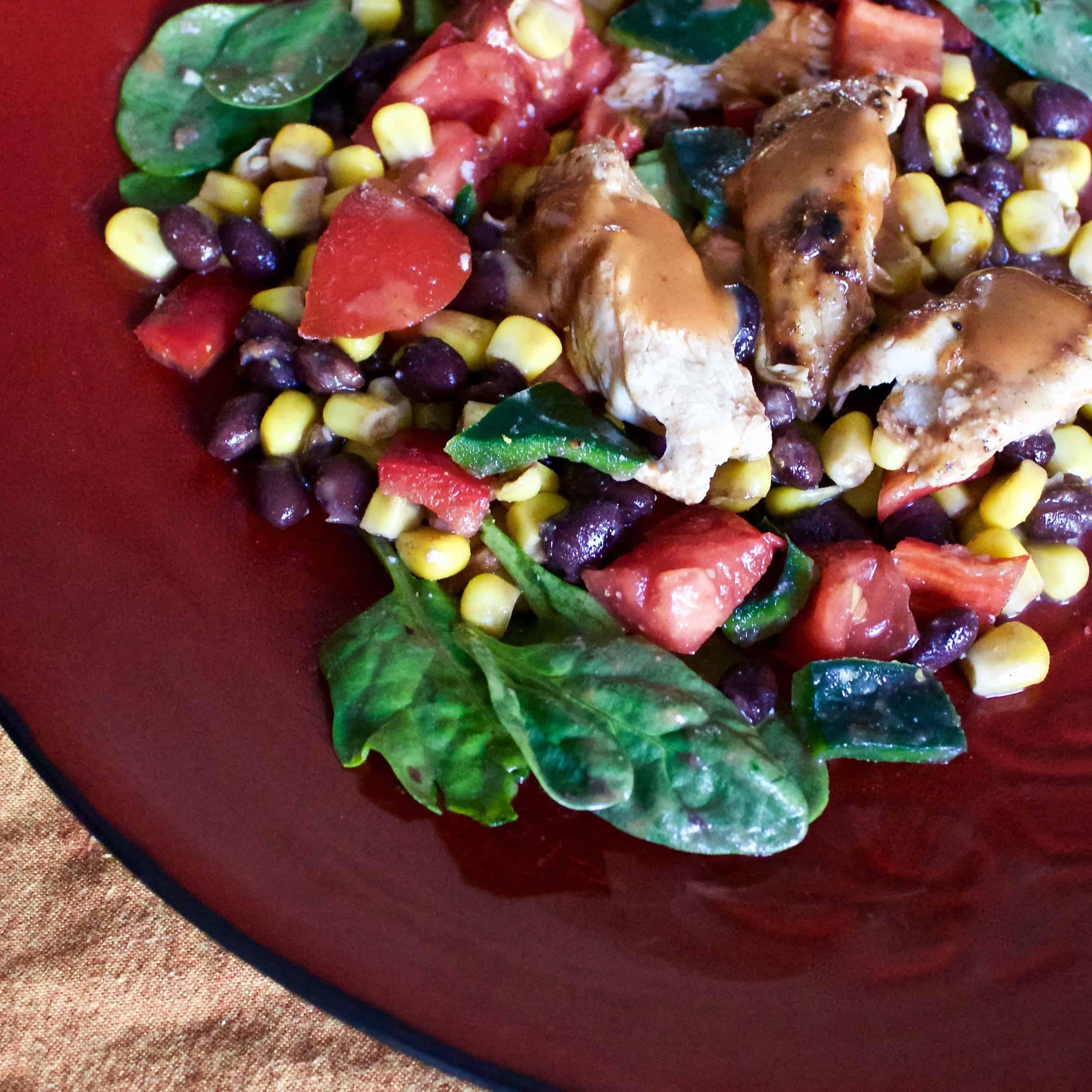 Grilled Chicken Corn Black Bean Salad