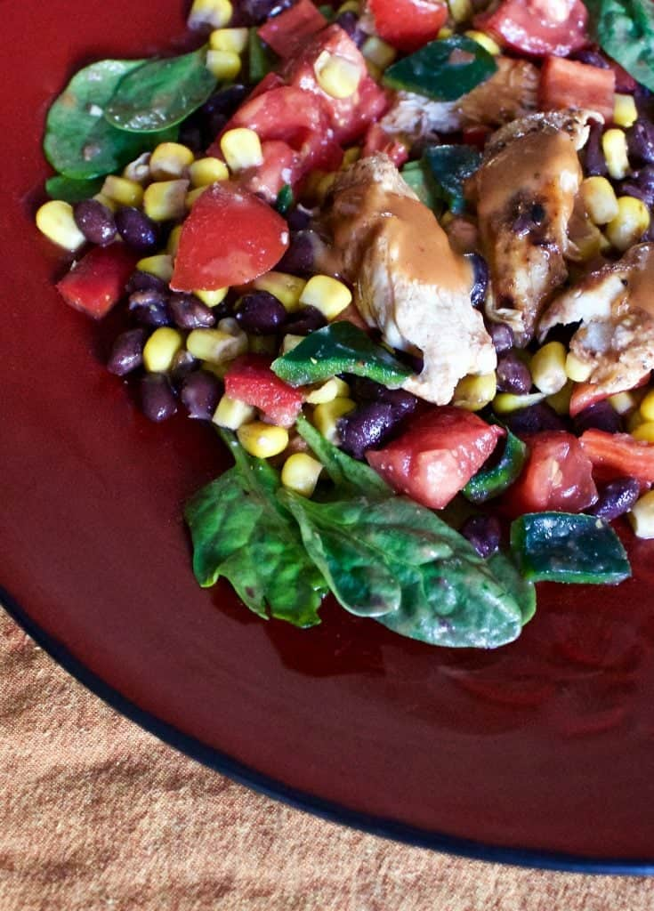 Grilled Chicken Corn Black Bean Salad