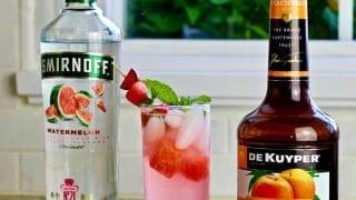Watermelon Peach Cocktail