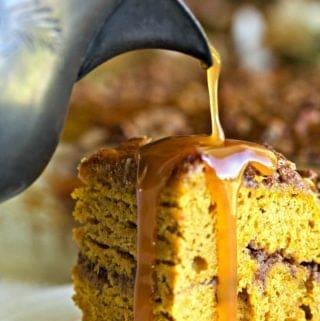 Pumpkin Coffee Cake with Caramel