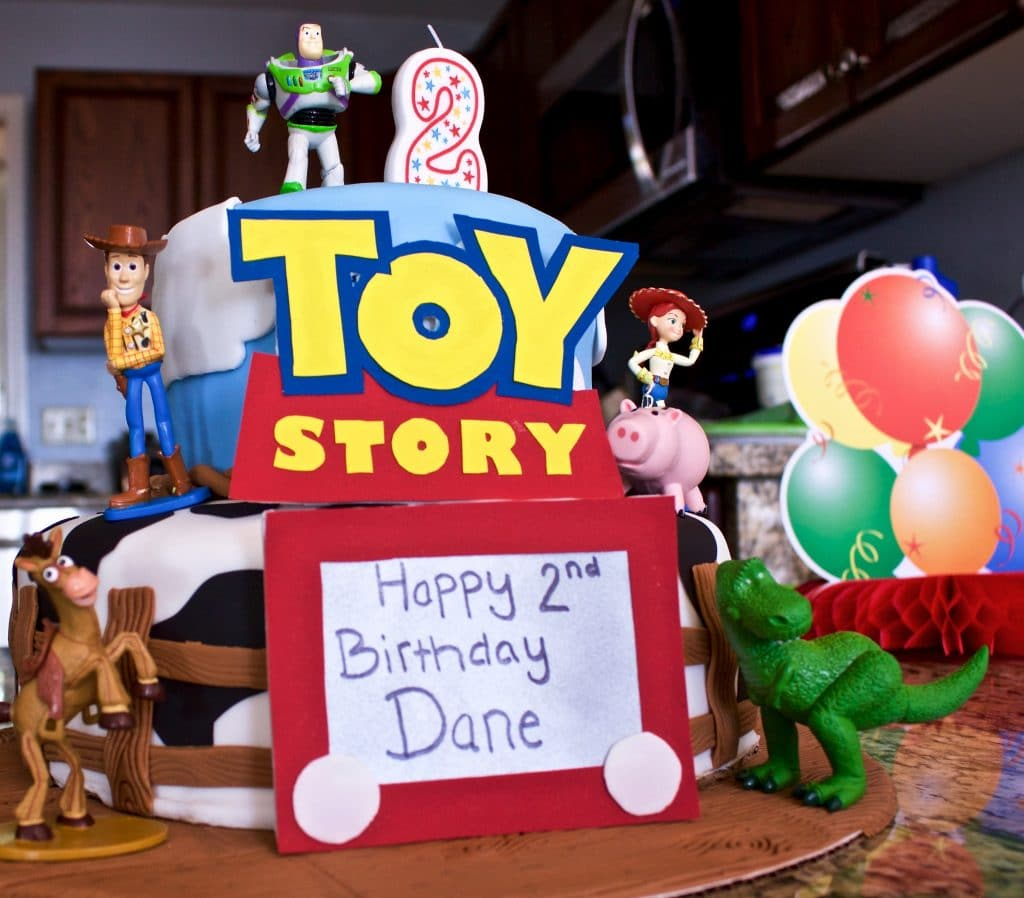 Awe Inspiring Toy Story Cake Recipe And Tutorial Homemade Food Junkie Personalised Birthday Cards Rectzonderlifede