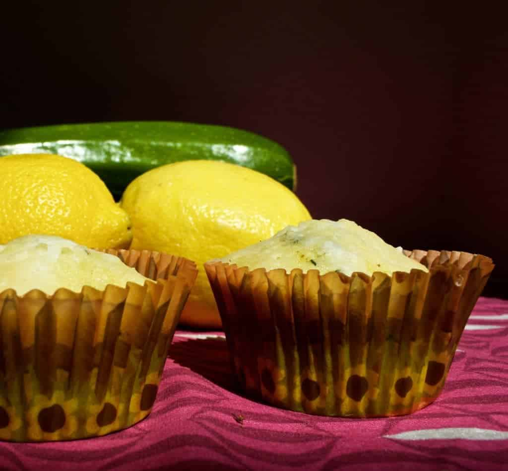 Zucchini Lemon bread as muffins Light textured, moist, delicious! http://homemadeFoodjunkie.com