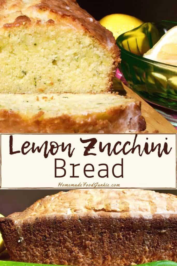 Lemon Zucchini Bread-pin image