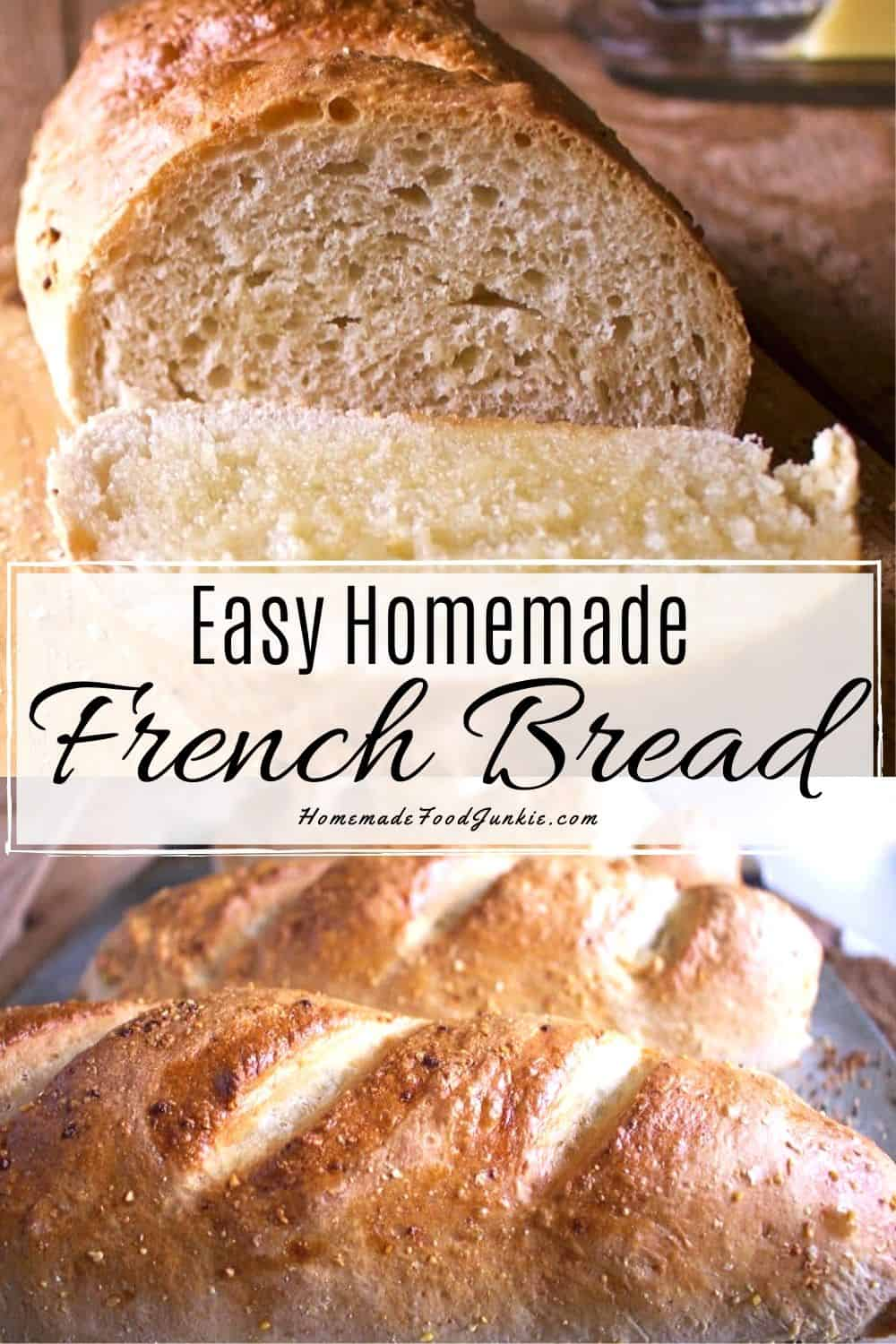 Easy Homemade French Bread-pin image