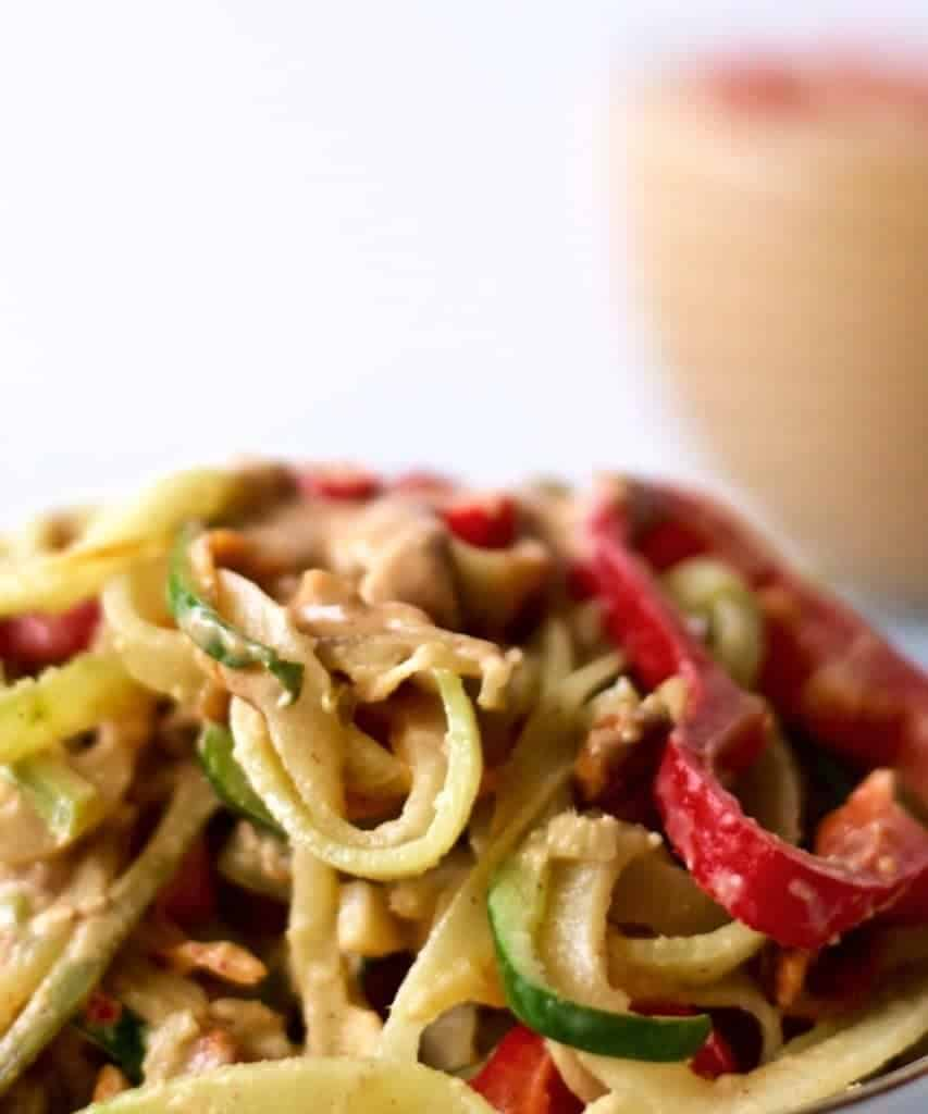 Peanut Sauce over Thai Zoodles