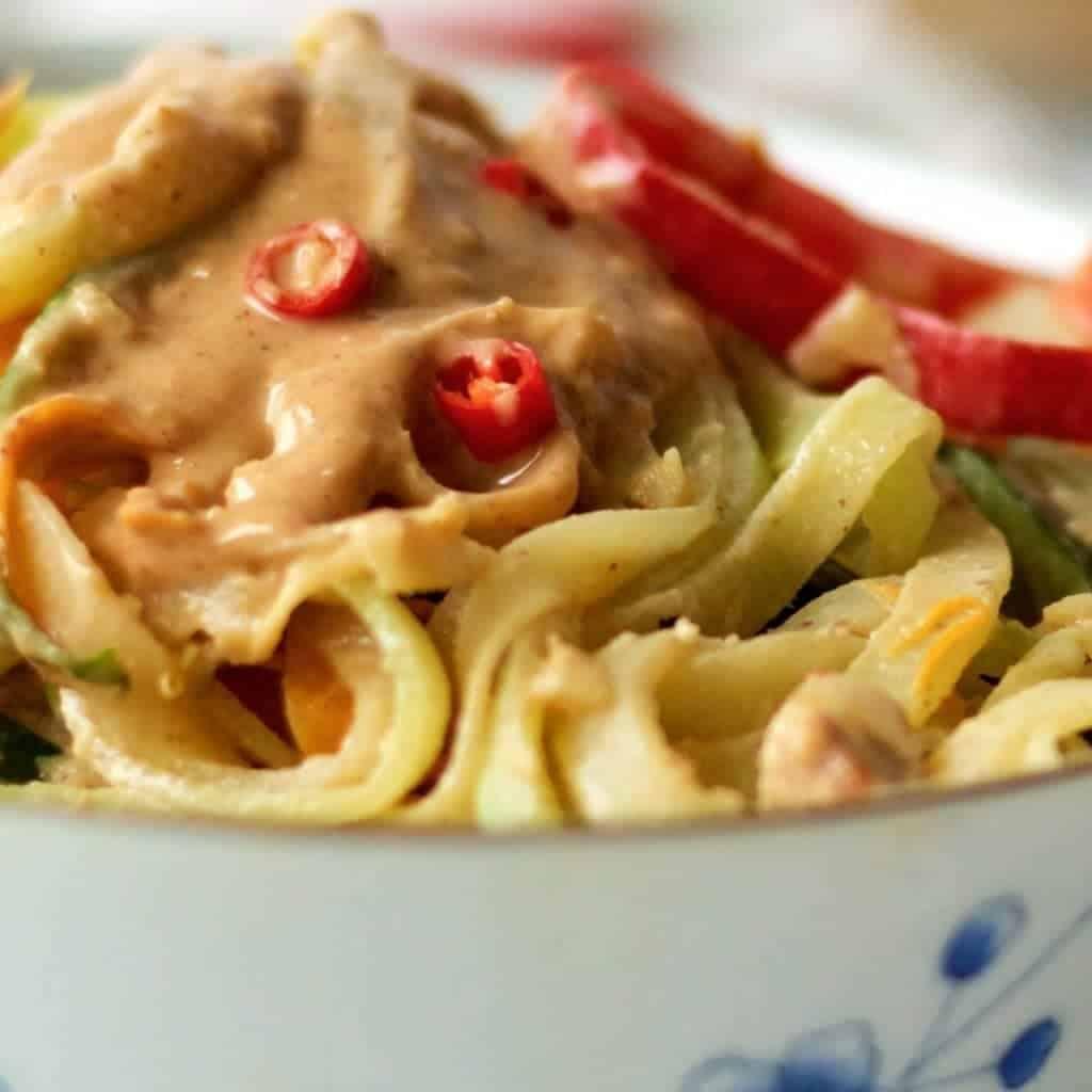 Peanut Sauce ove Thai Zoodles