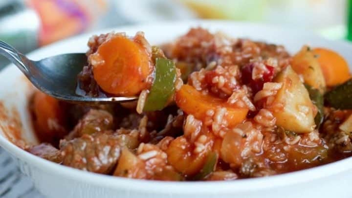 Crock Pot Beef and Rice Stew