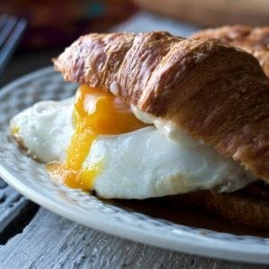 Bacon and Egg Croissant Sandwiches