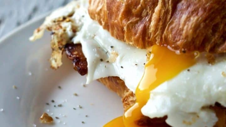 Bacon And Egg Croissant Sandwich