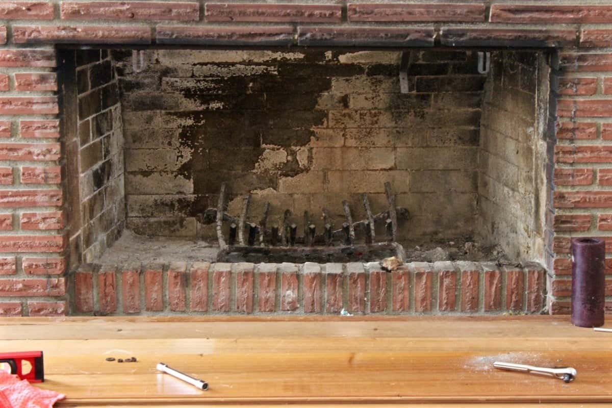 diy fireplace overhaul part 2 homemade food junkie