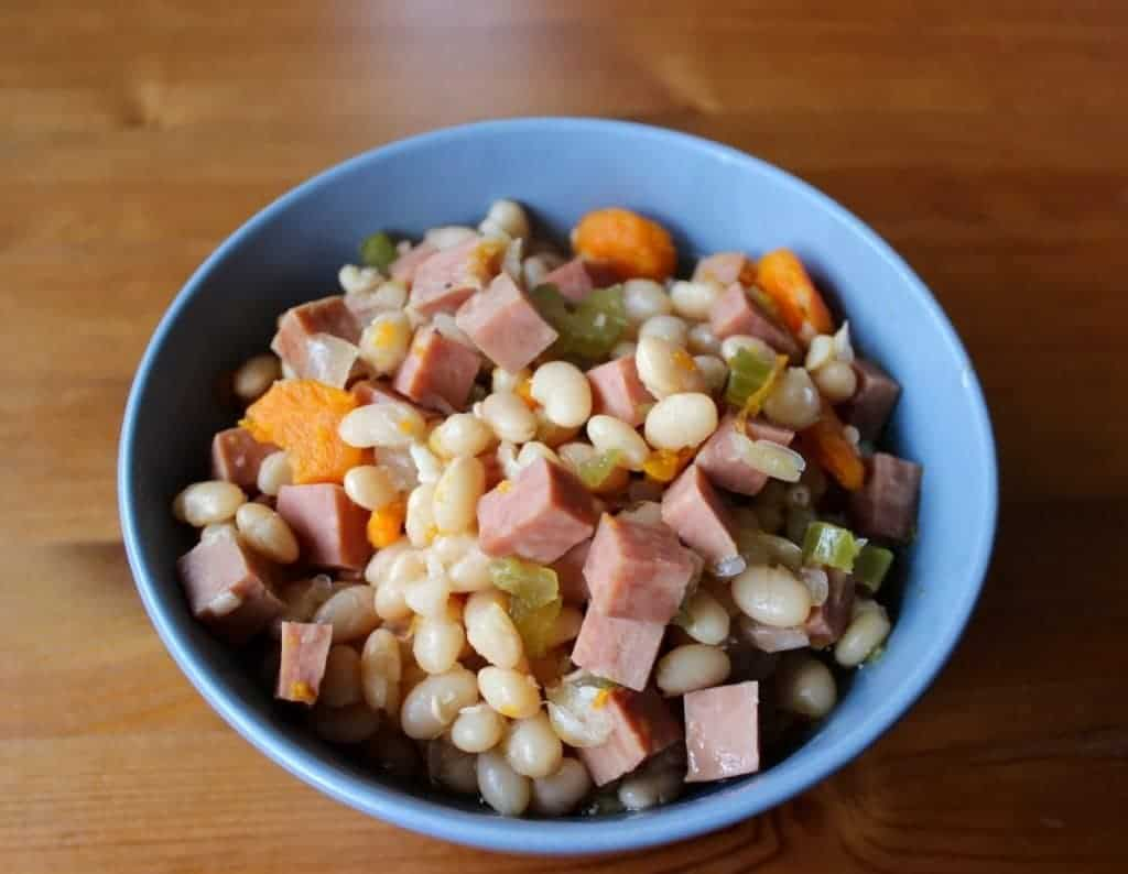 Delicious And Filling Navy Bean And Ham Soup, This Hearty, Gluten Free, Dairy Free ,High Fiber Soup Is The Perfect Dinner Option For A Quick And Easy Meal.