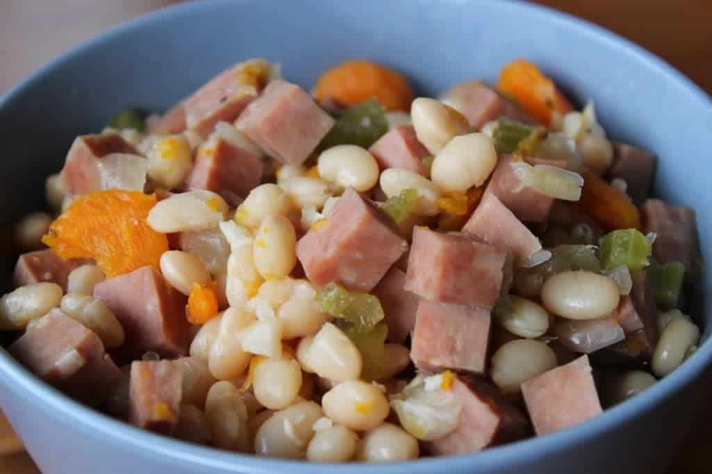 Navy Bean And Ham Soup Is Gluten Free, Dairy Free, High Fiber By Homemadefoodjunkie.com