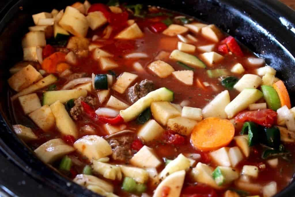 Crock Pot Beef Stew in the making