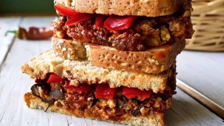 Italian Stuffed Meatloaf Sandwich