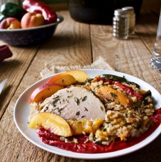 Slow Cooker Harvest Pork Roast Dinner