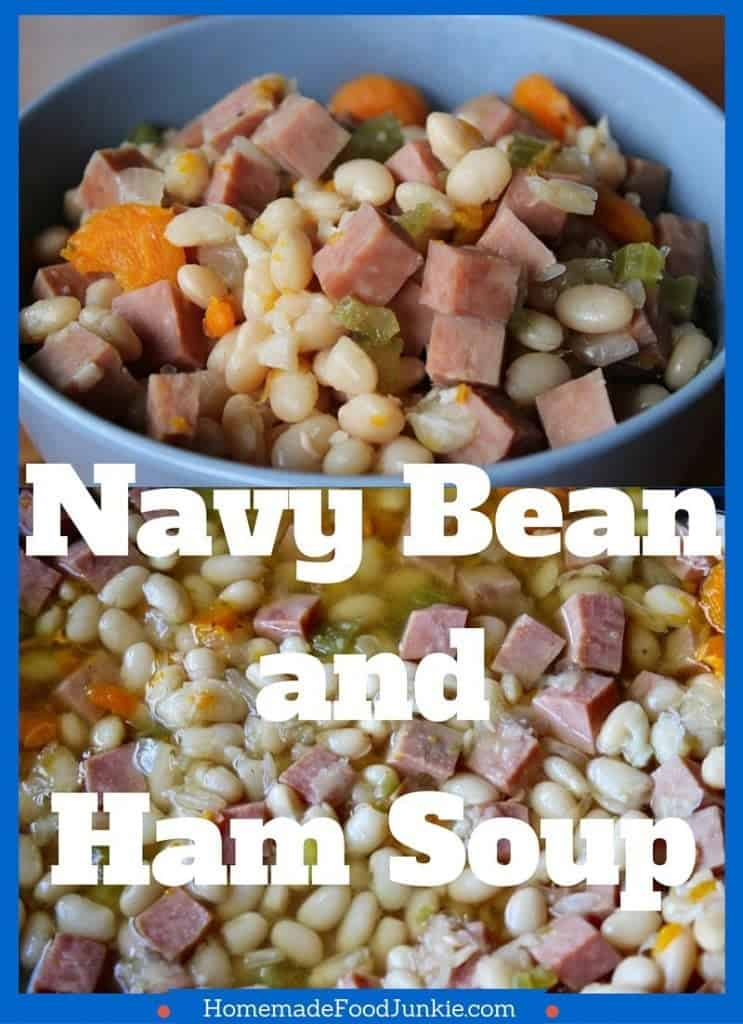 Navy Bean And Ham Soup is gluten free, high fiber and dairy free by homemadefoodjunkie.com