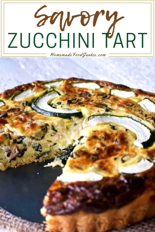 Savory zucchini tart-pin image