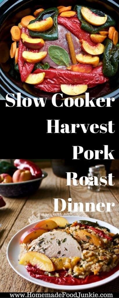 Slow Cooker Harvest Pork Roast Dinner