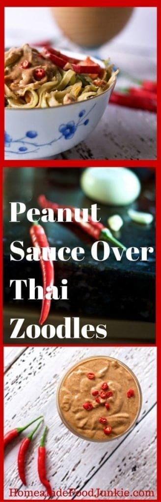Peanut Sauce Over Thai Zoodles
