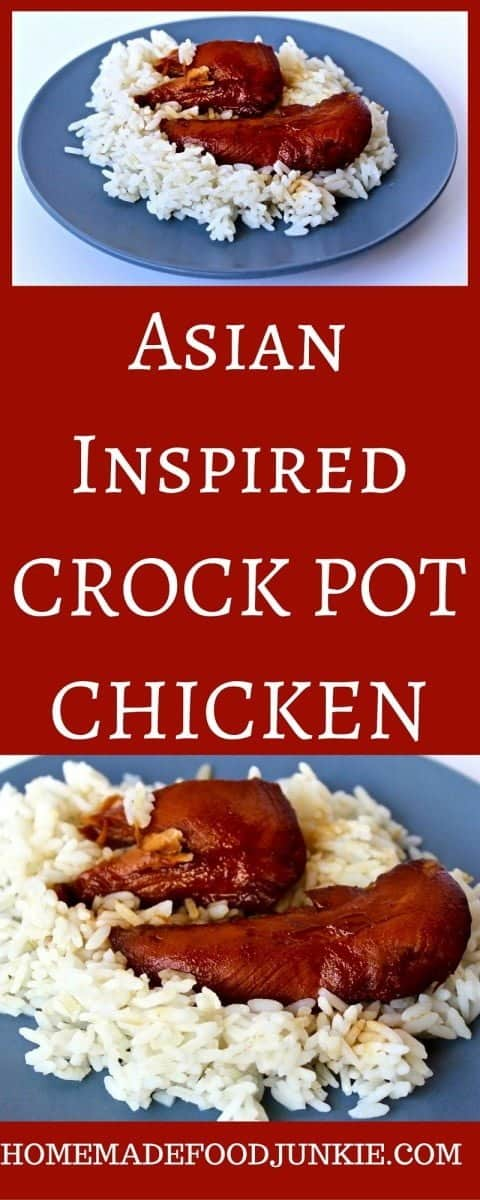 Easy and delicious Asian Inspired Crockpot Chicken is bursting with flavors that embody the boldness of teriyaki sauce and sweet honey themes.