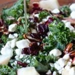 Kale and Apple Salad with Honey Dressing