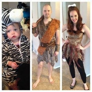 Cave people and their little Zebra!