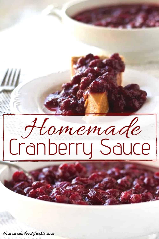 Homemade Cranberry Sauce-pin image