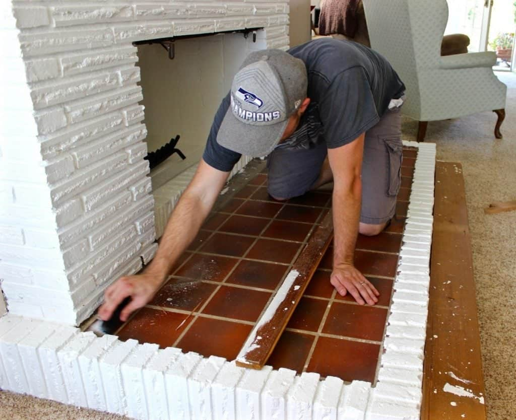 Fireplace Overhaul Part Three- Building a wooden hearth