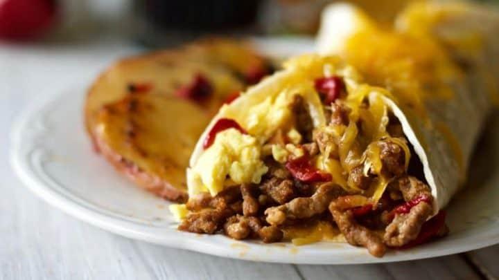 Breakfast Burrito Recipe with Chorizo Sausage | Homemade Food Junkie