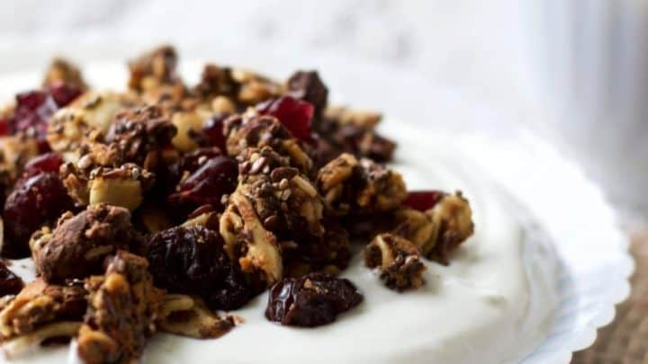 Chocolate Chunk Sweet Potato Granola
