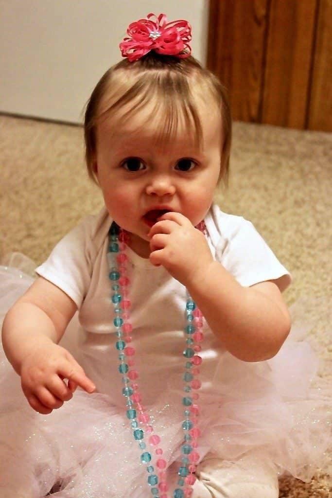 Ellie loved her princess cupcake dress
