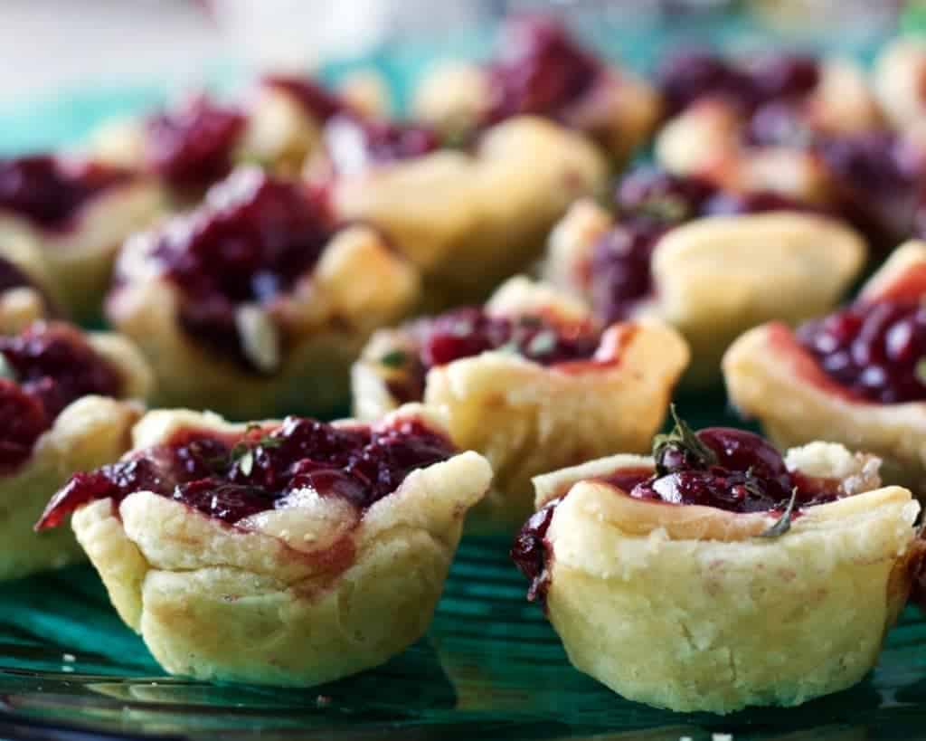 Cranberry Raspberry Brie Bites are a quick, easy appetizer, full of flavor and pretty healthy!