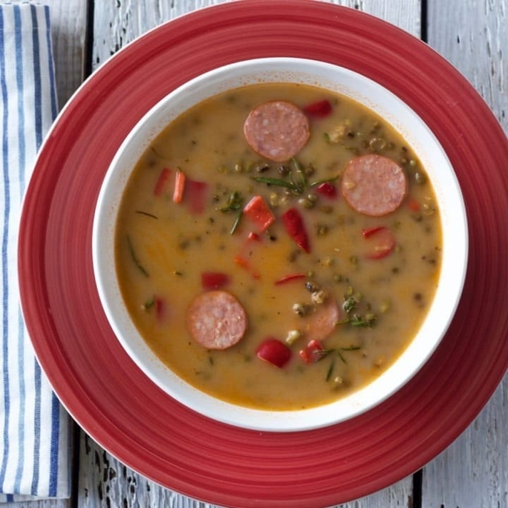 Mung Bean Curried Soup