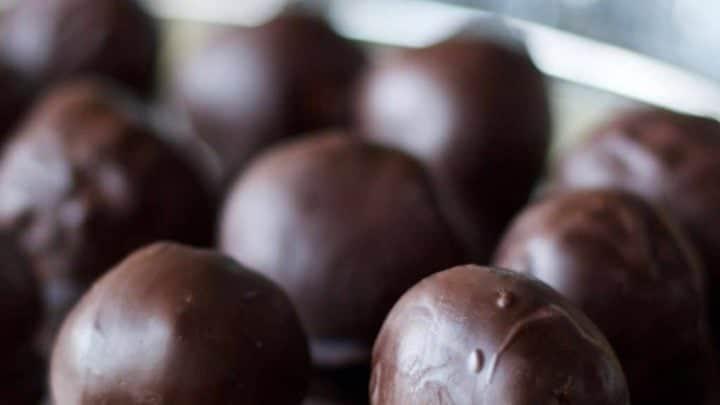 Chocolate Cherry Peanut Butter Truffles