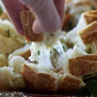 Mozzarella Bruschetta Cheesy Bread