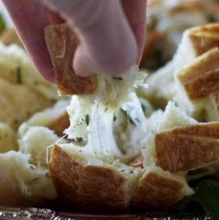 Mozzarella Bruschetta Cheesy Bread