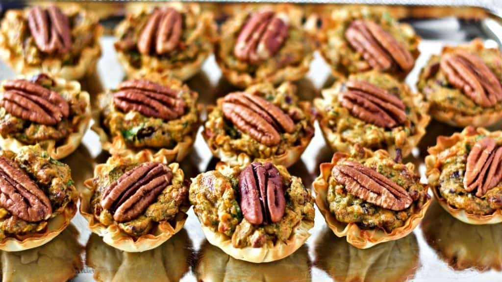 Low Carb Chorizo Spinach Fillo Cup Appetizers