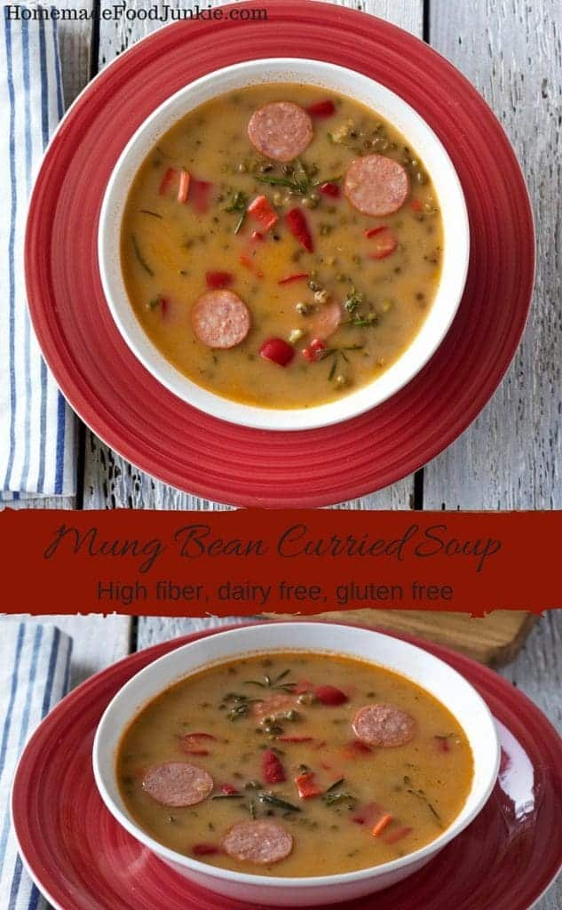 Mung Bean Curried Soup by HomemadeFoodJunkie.com