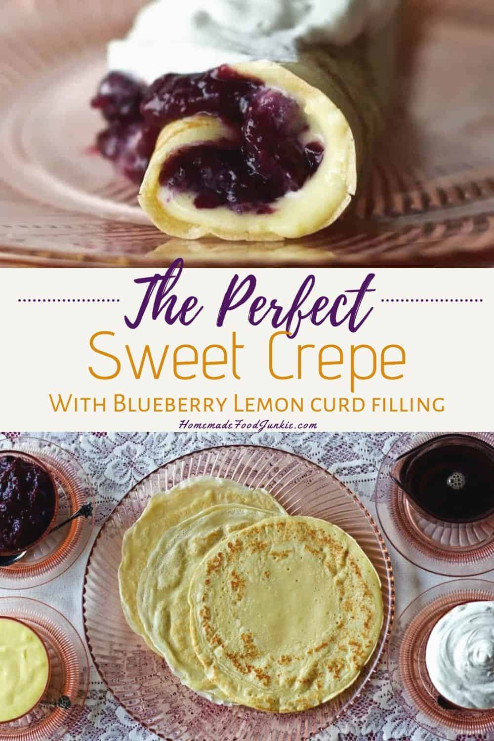 the perfect sweet crepe with blueberry lemon curd-pin image