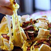 Smoky Cheesy Bacon Bread