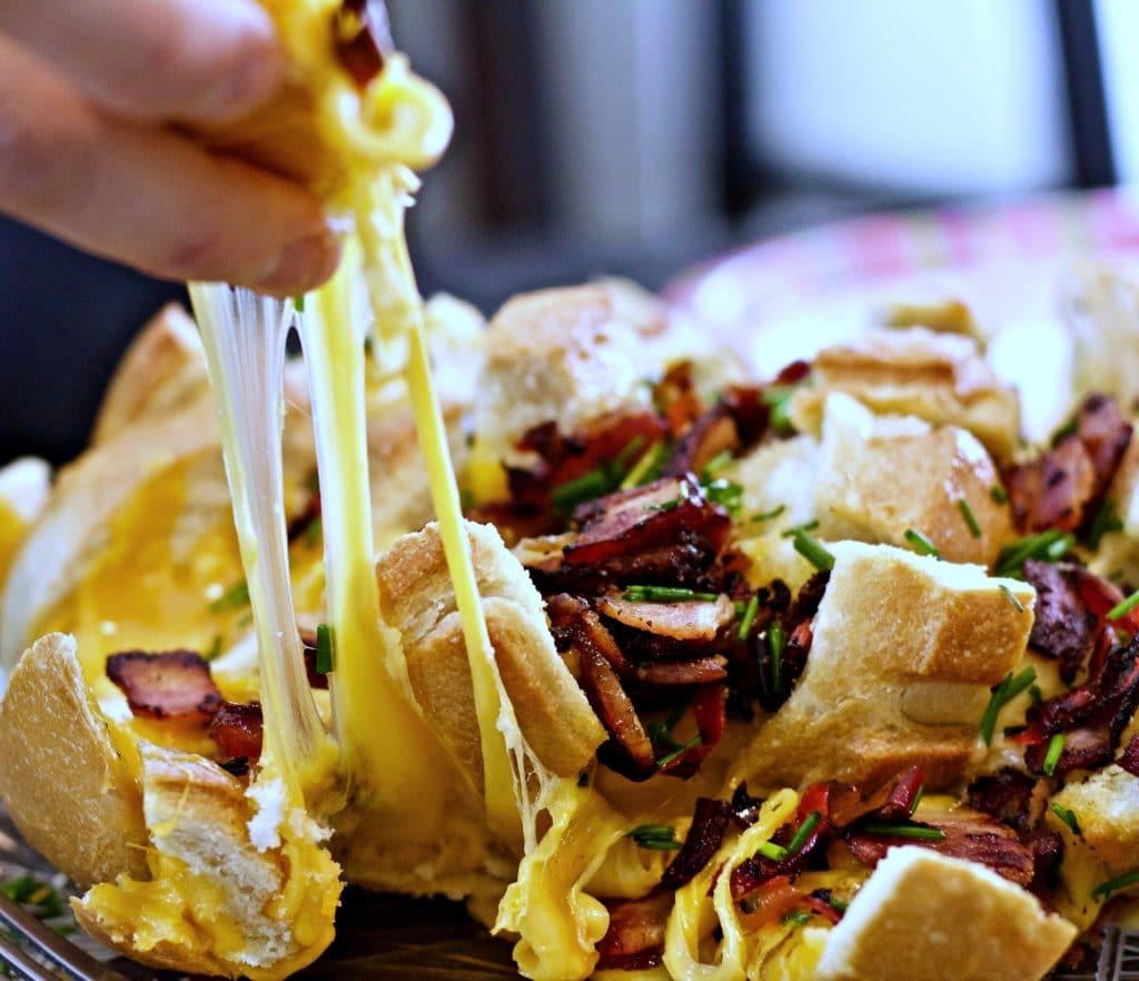 Smoky Cheesy Bacon Bread